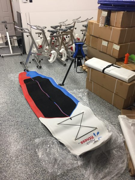 Surf deflated Aqua-fitness